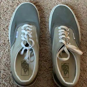 Vans grey and white Unisex shoes Men's size 9.5